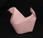 origami animals hen chicken