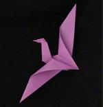 origami goose bird