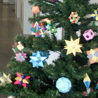 origami christmas tree modular origami