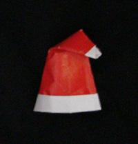 origami Santa cap