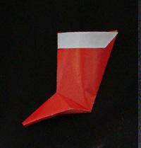 origami Santa Stocking