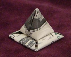 money origami pyramid