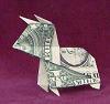 money origami bull