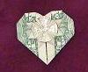 origami money heart
