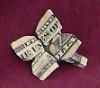 money origami clover shamrock