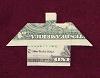 money origami house