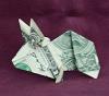 money origami rabbit