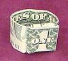 money origami ring