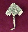 money origami umbrella