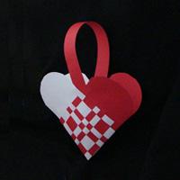 hearts weaved basket