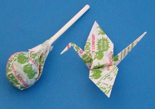 candy wrapper origami