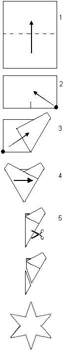 cut a six pointed star