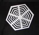 spider web kirigami paper