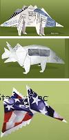 paper origami dinosaurs