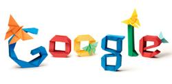 origami google doodle