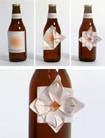 origami beer flower
