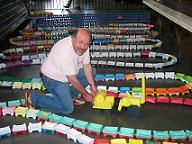 longest origami train