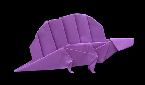 origami Dimetrodon