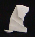 business card origami