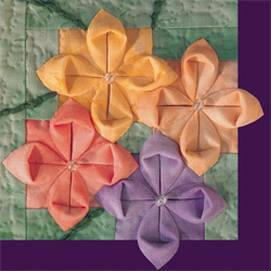 fabric origami quilts