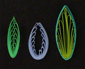 quilling combing leaf