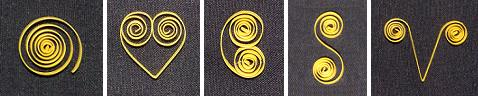 types of quilling scrolls