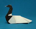 origami bird loon