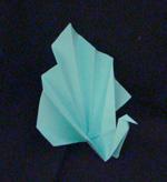 origami birds peacock