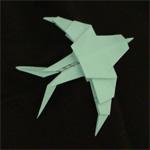 origami birds swallow