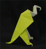 origami birds vulture