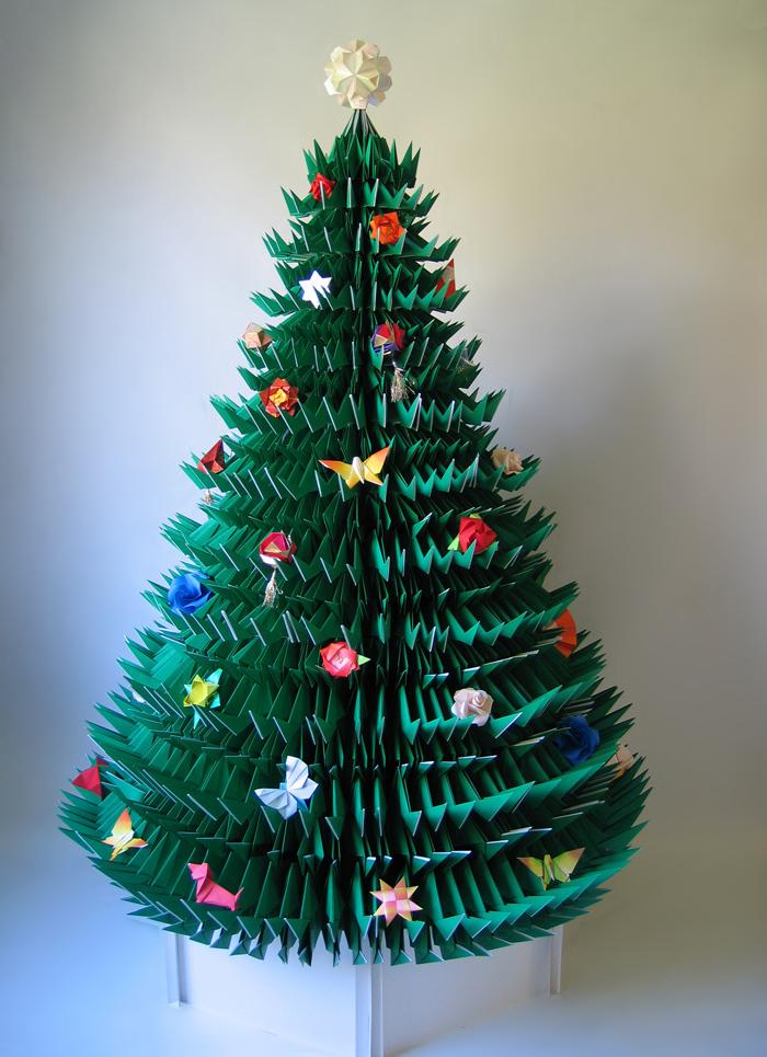 origami christmas tree Sharon Turvey