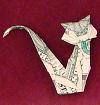 money origami cat