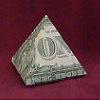 dollar bill tetrahedron