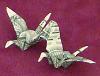 money origami double crane