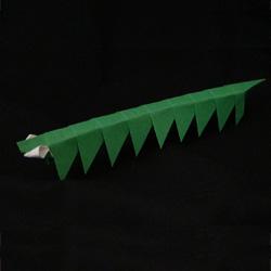 origami caterpillar