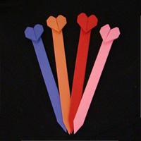 origami paper heart bookmark