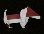 origami dog
