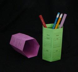 origami 3D Rhombic Calendar