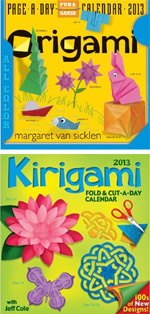 page-a-day origami calendars