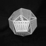 origami 3D Pentagon Calendar